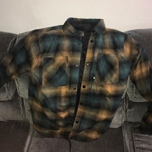 North Face Fort Point reversible flannel shirt.